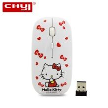 Мультфильм Беспроводной Мыши Hello Kitty компьютер Mause Мыши компьютерные 2.4 ГГц USB компьютера Мыши милые девушки Pro игры Мыши компьютерные подарок Бесплатная доставка