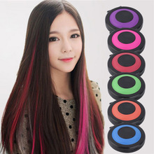 New Professional 6 colors Temporary Hair Dye Powder Cake Styling Hair Chalk Set Soft Pastels Salon Tools Non-toxic Christmas DIY