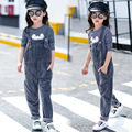 The New 2016 Joker Panty Girl Autumn Outfit Corduroy Pants Children Overalls Children's Clothes
