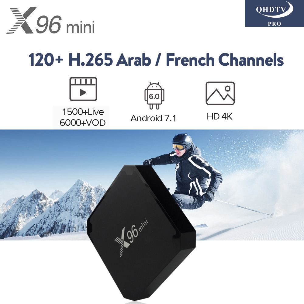 X96 Mini Android 7.1 TV Box 1G+8G Amlogic S905W 4K Media Player 2.4G Wifi X96mini H.265 IPTV QHDTV PRO Arabic French IPTV Box телеприставка mobase mxiii amlogic s802 android iptv 2 0 4 4 2 octa gpu 4k 1g 8g xbmc