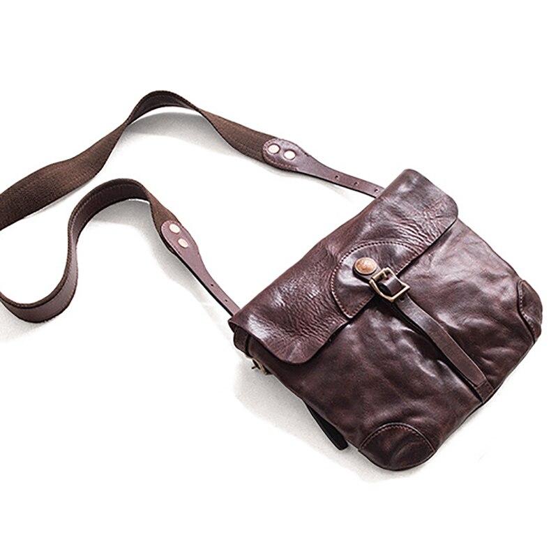 AETOO นำเข้า cowhide ขนาดเล็กกระเป๋า retro retro หญิงแฟชั่น crossbody กระเป๋า-ใน กระเป๋าสะพายข้าง จาก สัมภาระและกระเป๋า บน   3
