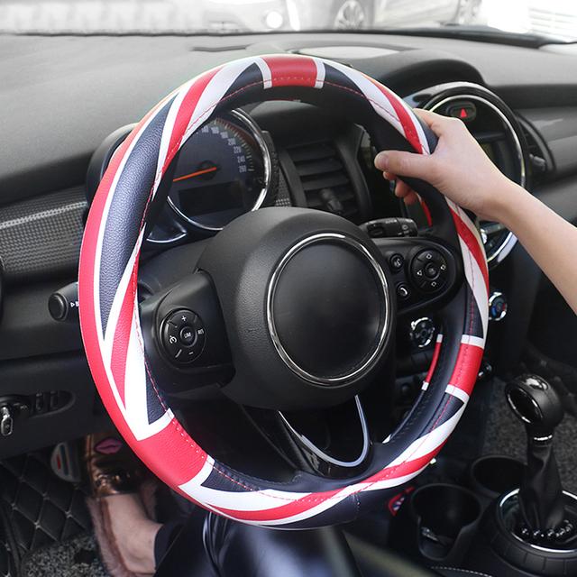 Universal Union Jack 38 CM PU cuero coche volante cubierta Decoración Para Mini Cooper JCW S Clubman Coche estilo