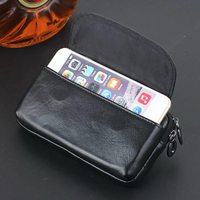 Zipper Man Belt Clip 100 Genuine Cow Leather Mobile Phone Belt Clip Case For HTC Desire