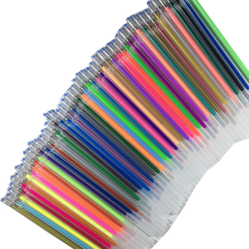 12Pcs/Set Gel Pen Colors Refill New Office Highlight Pen Refill Colours Ink School Stationery Writing Tool Gift School Supplies