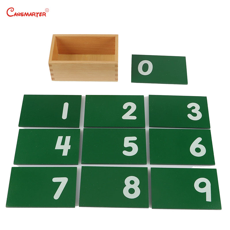 0 9 Numbers Math Toys Montessori Materials With Box Teaching Aids Professional Beechwood Toy Games for Children MA010 NX3 in Math Toys from Toys Hobbies