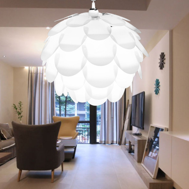 Iq Pendant Light Diy Artichoke Pinecone Shape Puzzle Lampshade Cover Child S Kids