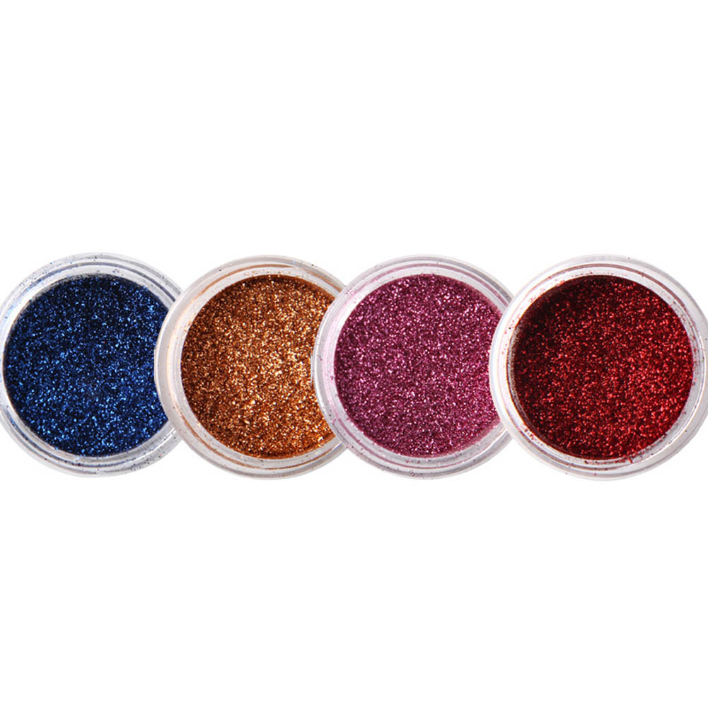 1  PC Mirror Nail Glitters Powder 0.5g Chrome Pigment Manicure Nail Art Decoration Black Base Color Needed       4 Colors