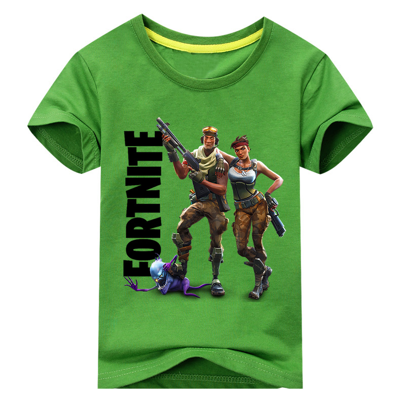 New Style Boy Summer T-shirts Girl Cotton Short Sleeve Tee Tops For Kids T Shirts Clothes Children Fortnite Print Clothing DX024 summer kids clothes sport sets for girls sea short sleeve t shirts denim shorts children korea style cotton clothing suits