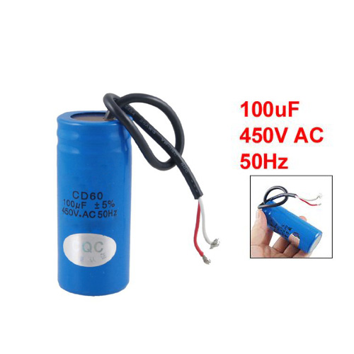 все цены на TOYL 100uF 450V AC CD60 2 Lead Motor Start Run Capacitor онлайн