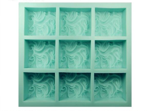 Оптовые 9 отверстие облака Мыло формы силиконовые кекса шоколад Мыло волны пудинг желейные конфеты Лед cookie печенье Mold
