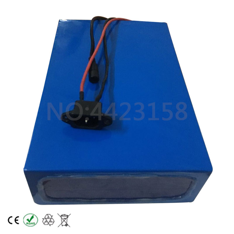 Discount Big Capacity 48 Volt Batteries 48V 20Ah Li-ion Battery for Electric Bike with PVC case Built in 13S 30A BMS + 2A CC/CV Charger 7