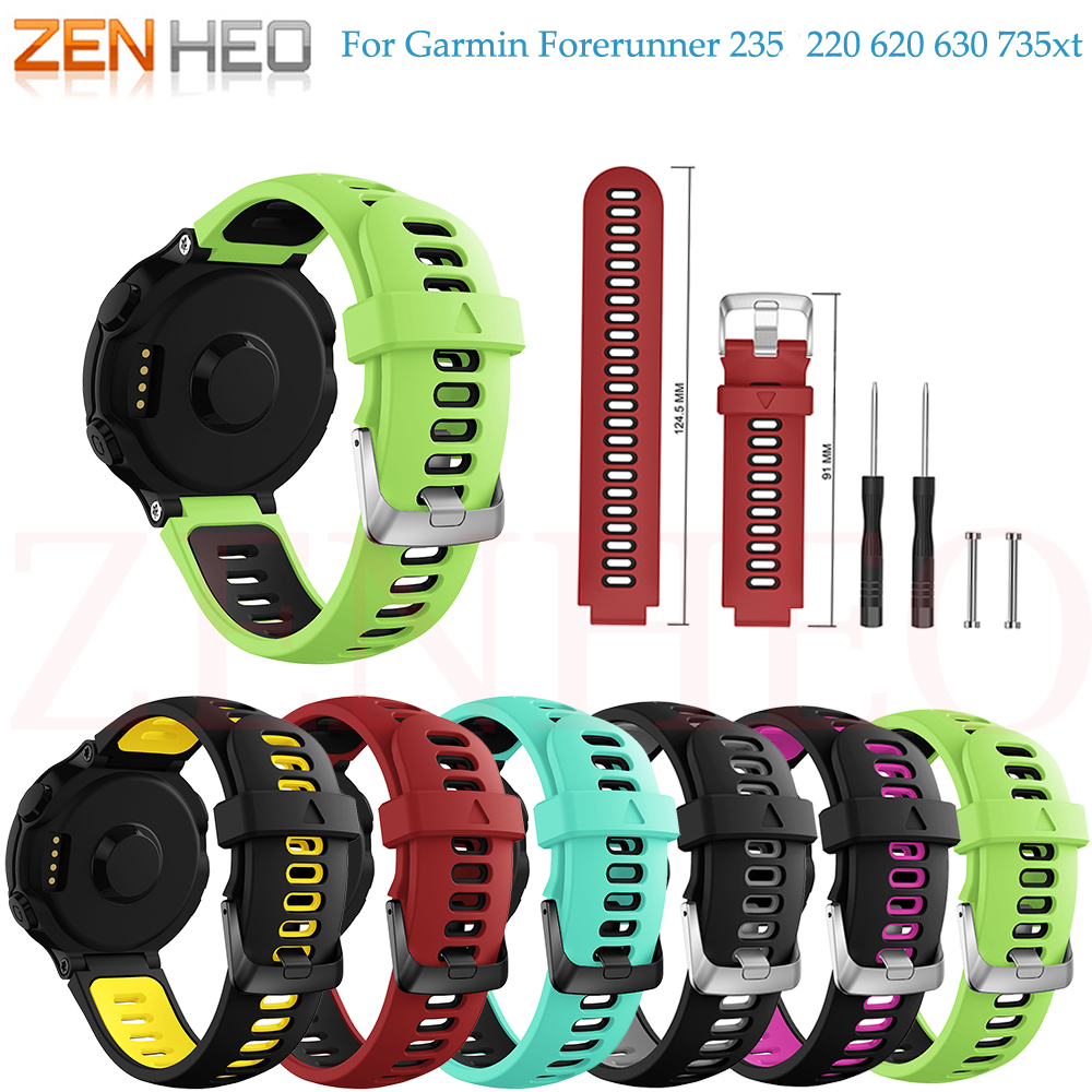 цена на New Arrival for Garmin Forerunner 735XT Wristband Wrist Strap For Garmin Forerunner 230 235 220 620 630 735XT Smart Watch Band