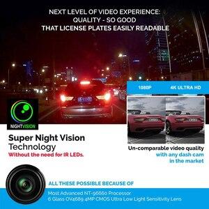 Image 3 - AZDOME 4K 2160P Dual Lens Built in GPS WiFi FHD 1080P Front + VGA Rear Camera Car DVR Recorder GS63H Dash Cam Night Vision