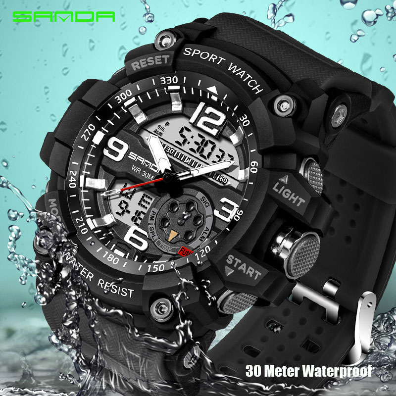 2017 Military Sport Watch Men Top Brand Luxury Famous Electronic LED Digital Wrist Watch Male Clock For Man Relogio Masculino sport student children watch kids watches boys girls clock child led digital wristwatch electronic wrist watch for boy girl gift