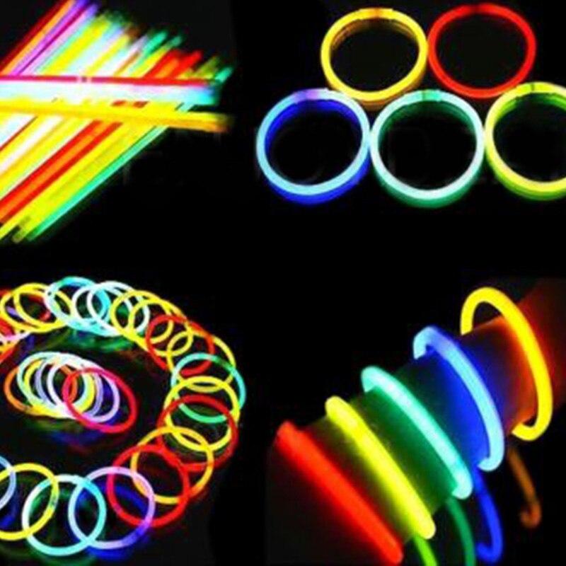 100 Stücke Leuchtstäbe Armband Halskette Neon Party Lichter für Kinder Kind Party Favors Spielzeug LXY9