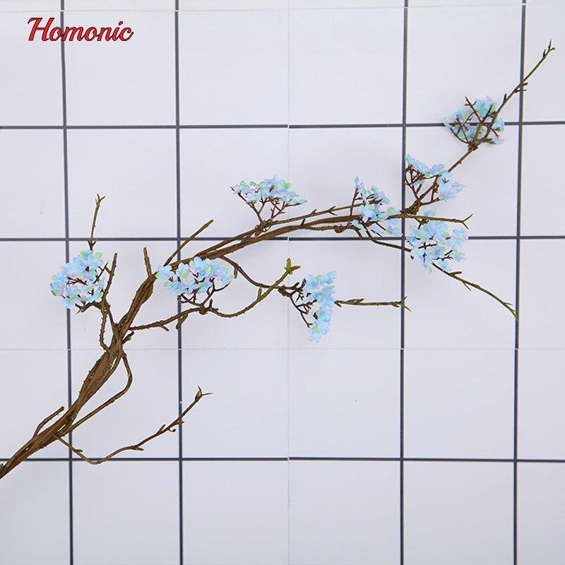 Настоящее сенсорный арбол Сакура искусственный японской Cherry цветет поддельные декоративные цветы ротанга для свадьбы Новые Домашние 7 вид...