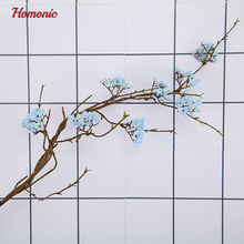 Real Touch arbol sakura artificial Japanese cherry blossoms fake decorative flowers Rattan for wedding new home 7 colors 1pcs