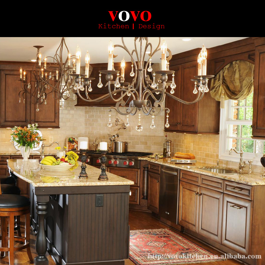 Classic Style Solid Wood Furniture Oak Wood Kitchen