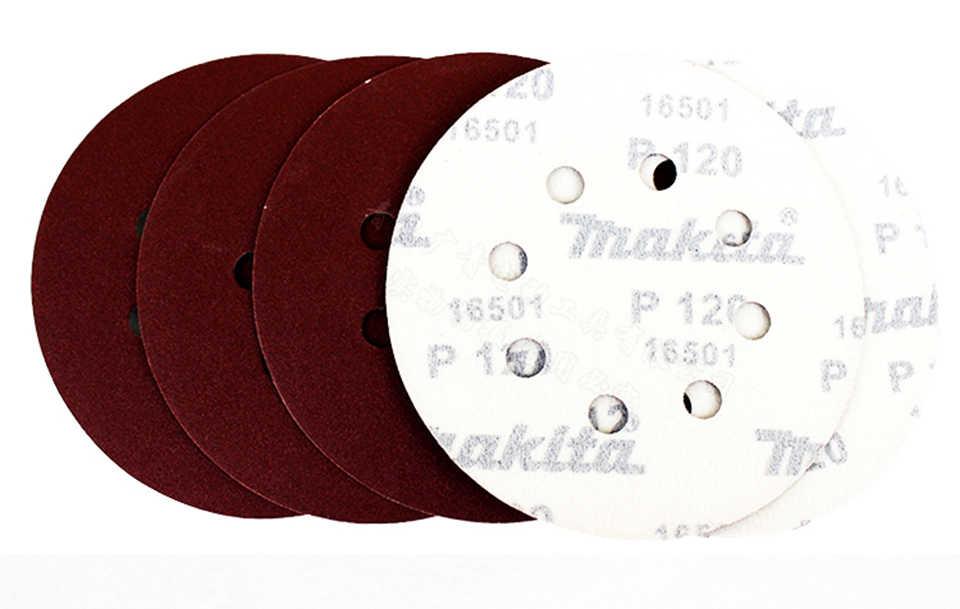Papel de lija japonés Makita M9202B 125x125mm pila de arena disco de madera muebles de pulido de golpes lija