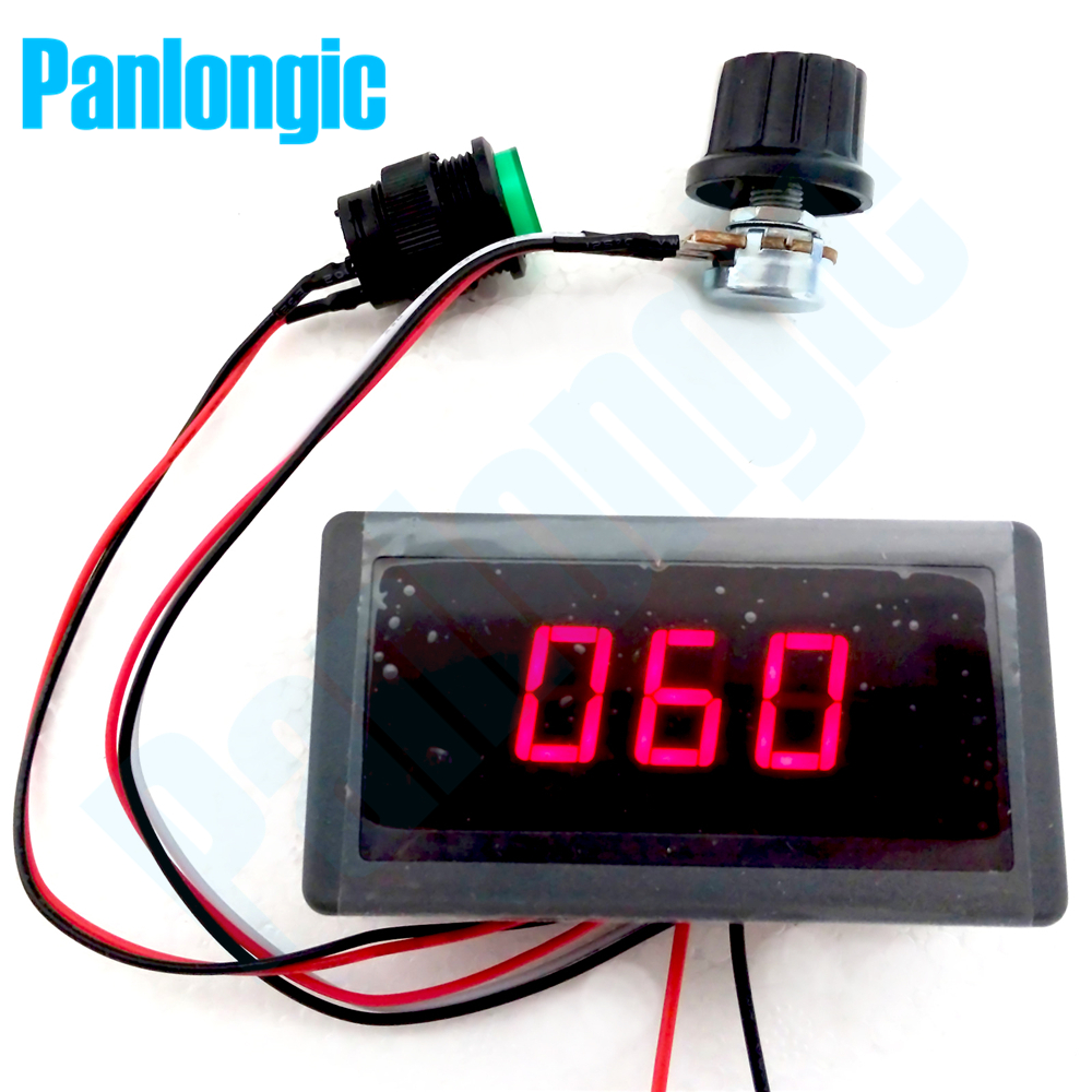 Digital Display Led 6V 12V 24V 6A 8A PWM DC Motor Speed Controller Variable Speed Regulator Free Shipping digital dc motor pwm speed control switch governor 12 24v 5a high efficiency