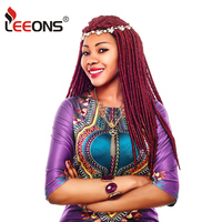 Leeeons Long Faux Locs Crochet Hair Extensions Kanekalon Braiding Hair Popular 18Strands/Pcs Dreadlocks Crochet Braids Hairstyle