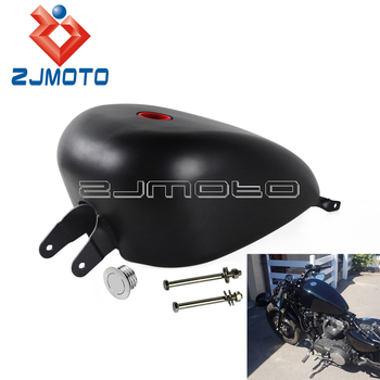 Motorcycle 3.3Gal EFI Fuel Tank For Harley Sportster XL 1200 883 SuperLow Iron Custom Seventy-Two Forty-Eight Roadster 07-2016 for harley sportster 1200 iron 883 roadster forty eight custom seventy two superlow motorcycle sissy bar passenger pad backrest