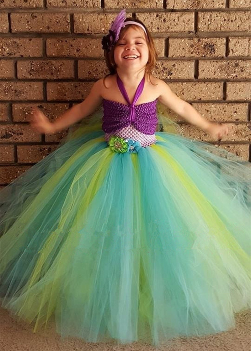 Baby Girls Tutu Dress Mermaid Cosplay Costume Princess Tulle Dresses for Christmas Party Birthday Photography Prop Tutu Dress hot sell fashin wigs mermaid wig adult princess ariel red wavy cosplay costume big