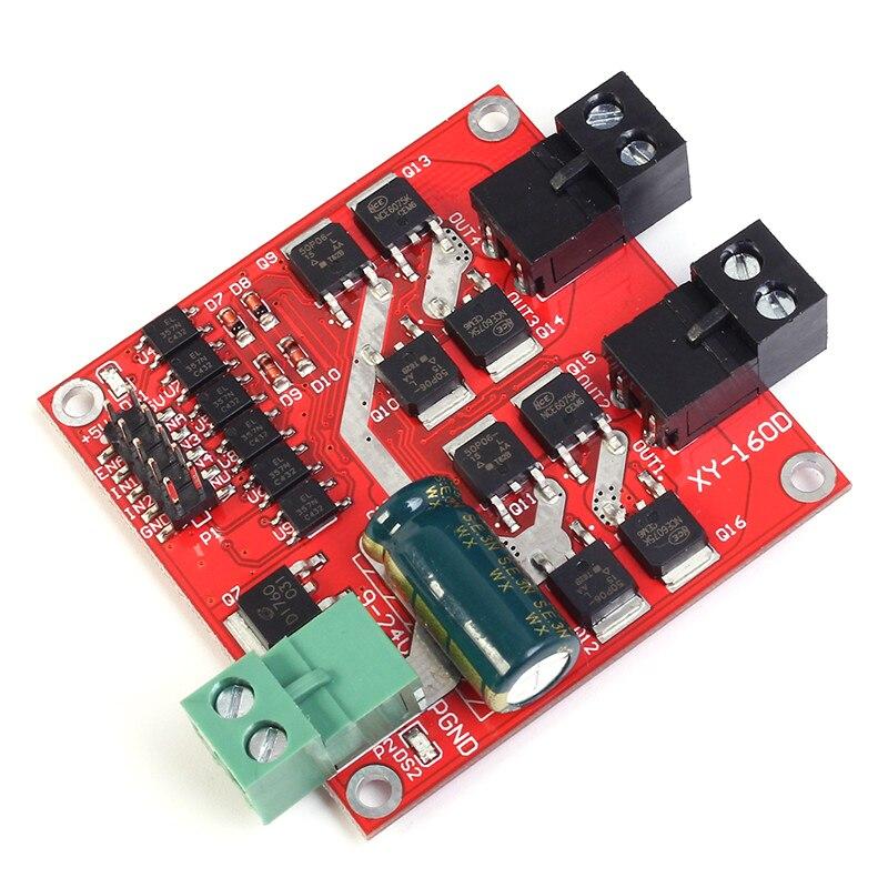 2 Channel CH Dual H-bridge DC Motor Driver Module Positive / Negative Rotate PWM Regulation Optocoupler Isolation L298 7A 160W