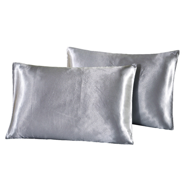 Us 10 94 40 Off Wliarleo Slik Polyester Pillowcase Us Uk Ru Solid Pillow Cover Pillow Cases Home Smooth A Pair Black Decorative Pillows Fronha In