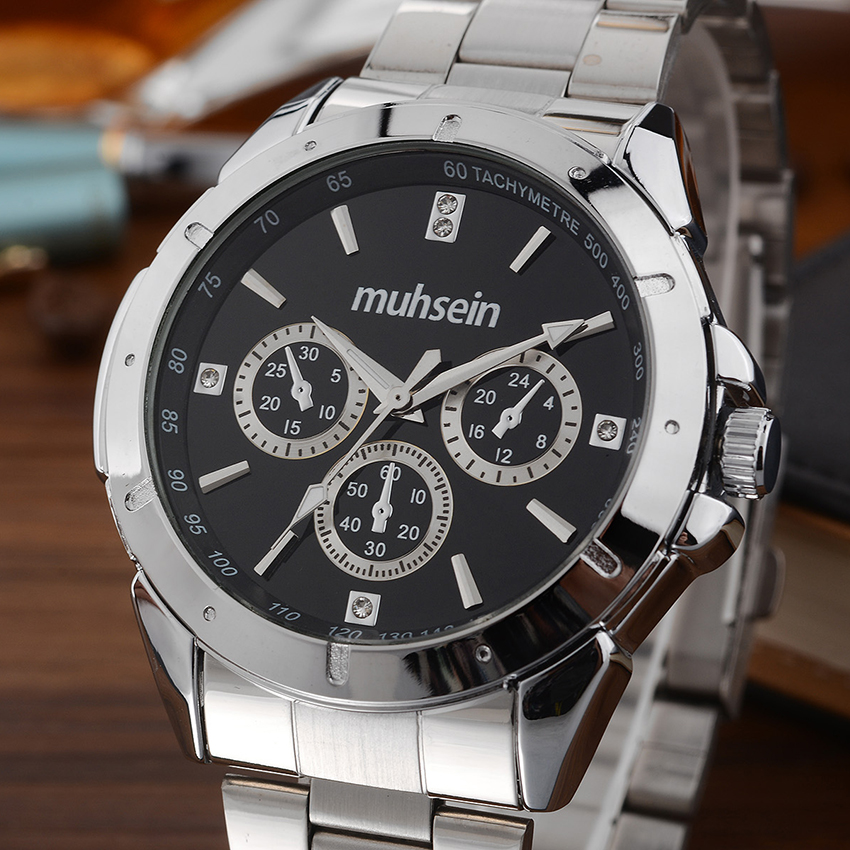 neos brand genuine watch men s stainless steel straps simple business fashion waterproof quartz fashion men s watch Muhsein  new simple  business waterproof stainless steel business watch quartz watch sport watch men fashion watch