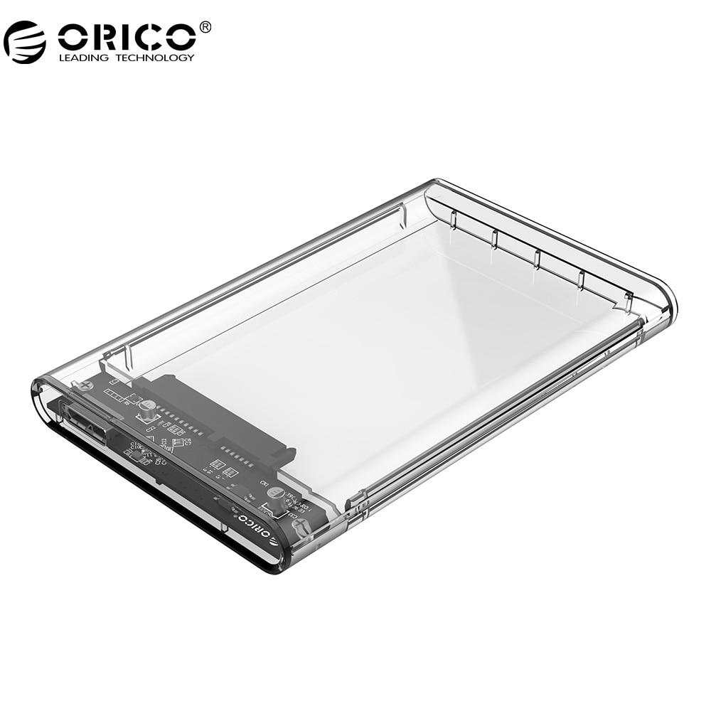 ORICO 2139U3 Festplattengehäuse 2,5 zoll Transparent USB3.0 Festplattengehäuse Unterstützung UASP Protokoll für 7-9,5mm HDD