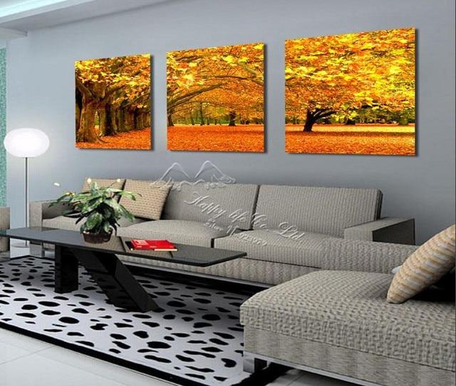Aliexpress.com : Buy 3 Panel Modern Wall Painting wall panel tree ...