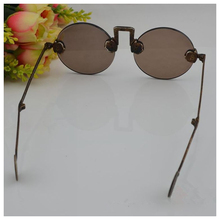 Old Shanghai Republic natural crystal glasses pure copper frame sunglasses