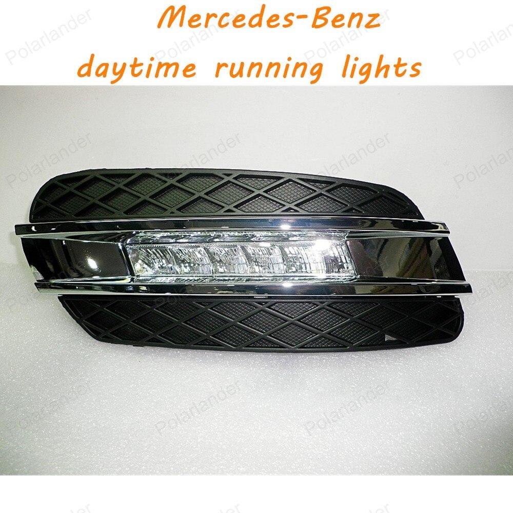 Ultra-bright LED Daytime Running Light LED DRL light FOR 08-09 Mercedes-Benz W164 LED DRL Day Running Lights 12V 8 Lamp