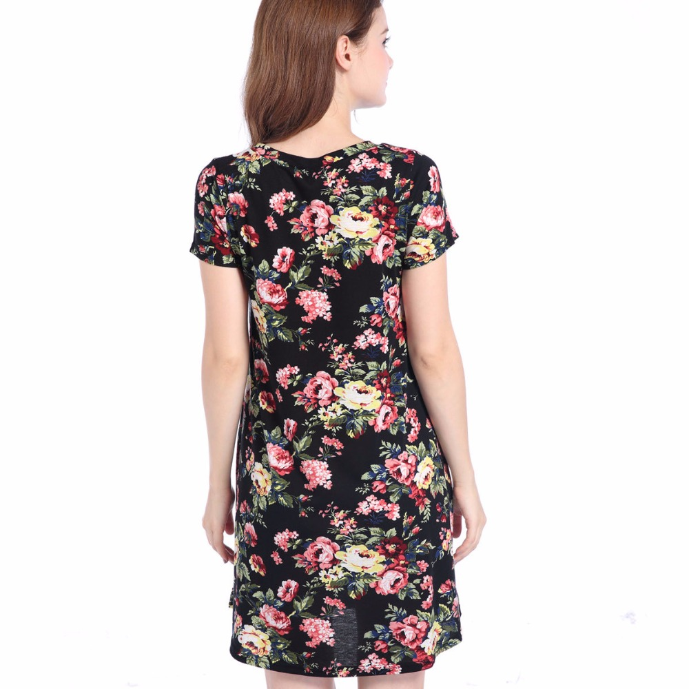 2019 Top Selling Woman Dress Sommer Elegant Blomster Vintage - Dametøj - Foto 3