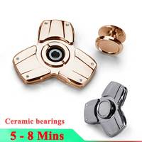 Ceramic Bearings Tri Fidget Hand Spinner Car Style Tri Angle Metal Finger Toy EDC Focus Fidget