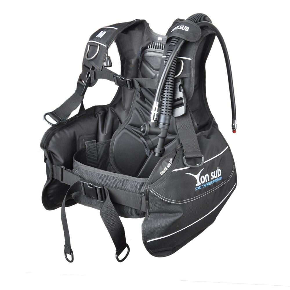 Veste YONSUB BCD entièrement accessoirisée compensateur de flottabilité de plongée sous-marine pour débutant avec poche intégrée de poids à dégagement rapide