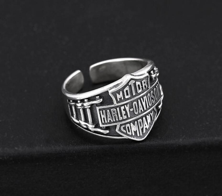 Hot sale new cargo free S925 pure silver Finger ring Antique Motorcycle Chain Silver Ring personality Multi style