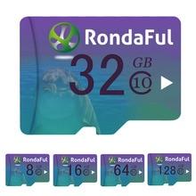 Rondaful Карты Памяти 8 ГБ ~ 128 GBmicro sd card Class10 UHS-1 КАРТ флэш-карты Памяти 128 ГБ 64 ГБ Microsd для Смартфон/PC высокая скорость