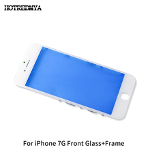 10Pcs/lot Outer Glass With Frame For iPhone 7 7G 4.7