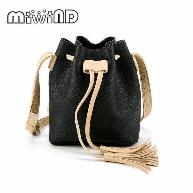 9a8112e015bb Girls Cute Korean Bags Messenger Leather Shoulder Sling Bags For Women  Drawstring Handbags Ladies Small Crossbody Bucket Bags