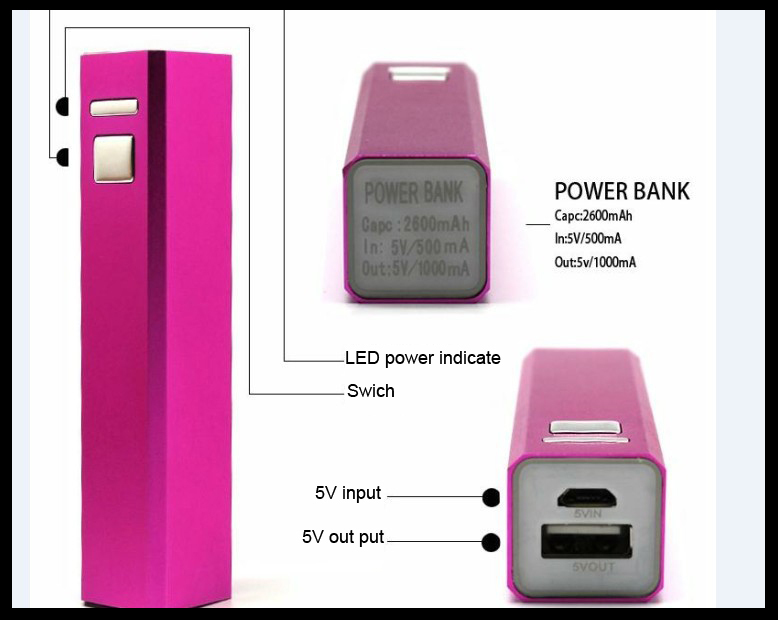 Z 201 Energizer Portable Battery Powerbank Custom Logo 2600mah