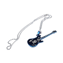 New Cool Fashion Guitar Pendant Stainless Steel Charm Necklace H5059 P0.40