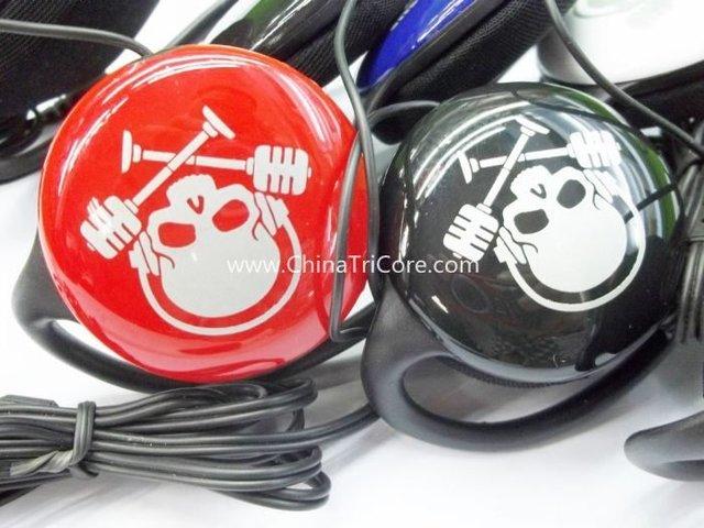 Popular Neckband headphone Earphone for mp3 mp4 PC 100pcs/lot
