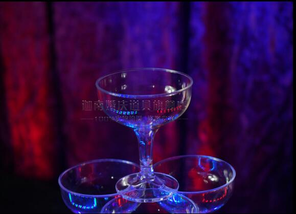 Champagne Tower Five storey Tower led Lighting Tower Acrylic Cup Wedding props in Party DIY Decorations from Home Garden