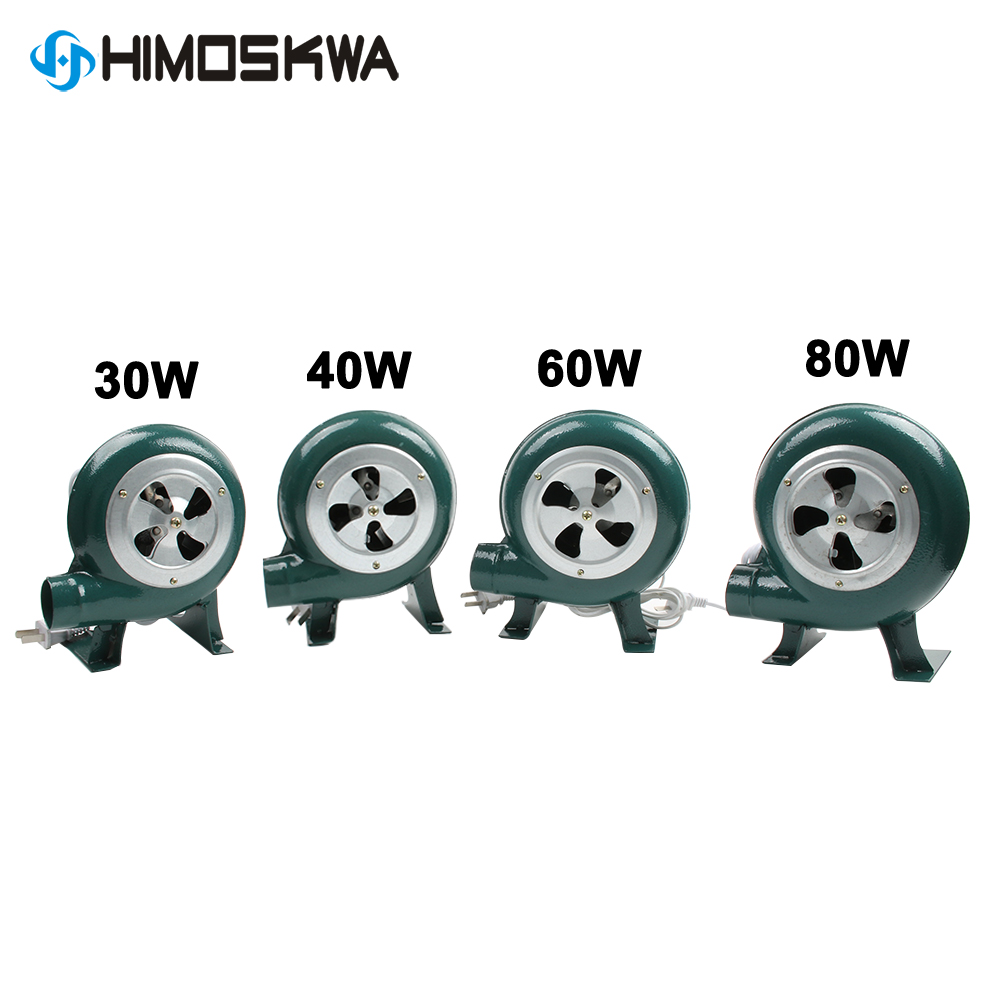 220V 240V household blower Iron Barbecue blower Small centrifugal blower 30W 40W 60W 80W EU US Plug adapter Green for barbecue