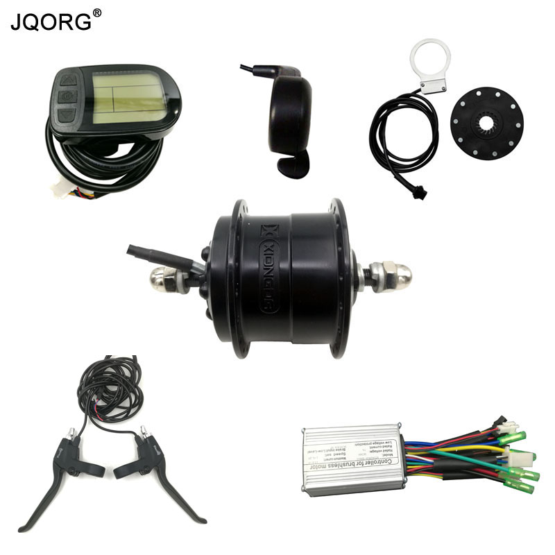 JQORG Front Motor Wheel Driving 36V 250W Electric Bike Conversion Kits Mountain Bike Refit To Electric Bike Motor And Motor Kits risunmotor 36v 250w electric handcycle folding wheelchair attachment handbike diy conversion kits with 36v 9ah li ion battery