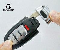 Caso Fob 3 + 1 Botão inteligente Remoto Chave Shell para Audi A3 A4 A5 A6 A7 A8 Q5 S4 S5 S6 4 Botões