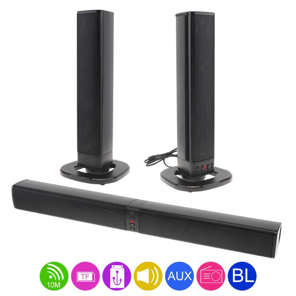 BS 36 Home Theater Sensurround Bluetooth Foldable and Split Soundbar Speaker with 4 Full Range Horns for TV / PC / Phone