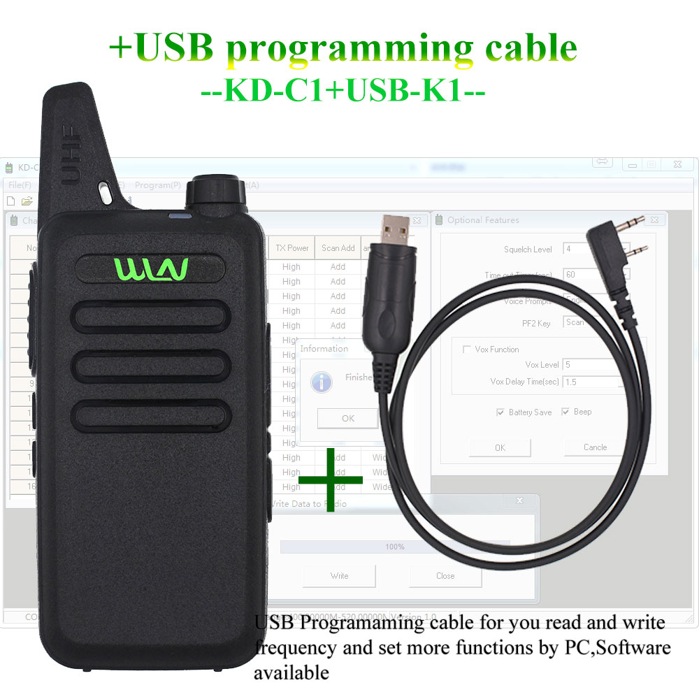 WLN KD C1 Mini Walkie Talkie UHF 400 470 MHz 5W Power 16 Channel  MINI handheld Transceiver Better Than BF 888S-in Walkie Talkie from Cellphones & Telecommunications on AliExpress - 11.11_Double 11_Singles' Day 1